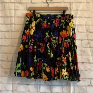 Old Navy Floral Black Skirt